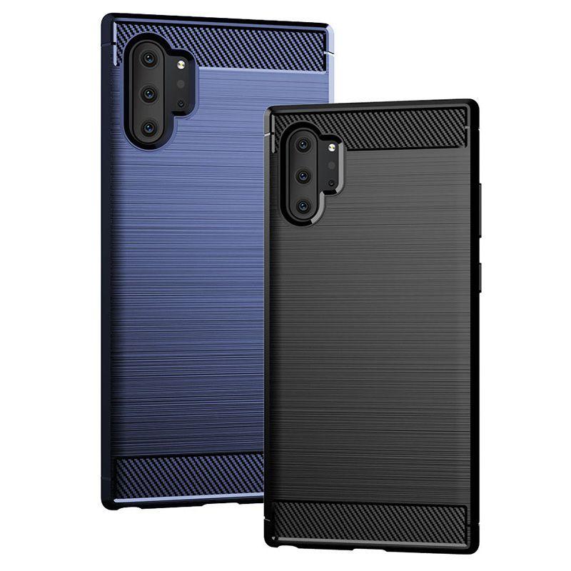 40pcs stoßfeste dünne rüstung Silikonhülle für Samsung Galaxy Note 8 9 10 plus s8 s9 s10 S10e Fällen TPU Abdeckung funda coque kryt Etui gebürstet