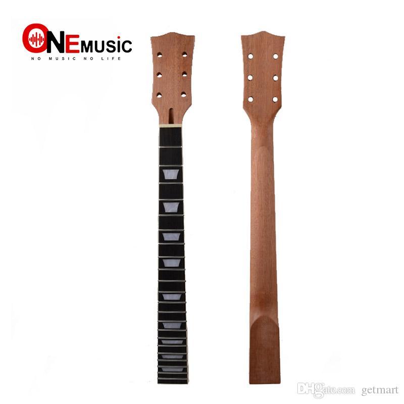 22 Fret Guitar Neck open sattin LP in mogano settore tastiera in palissandro e binding Inlay per LP Sostituzione collo chitarra elettrica.