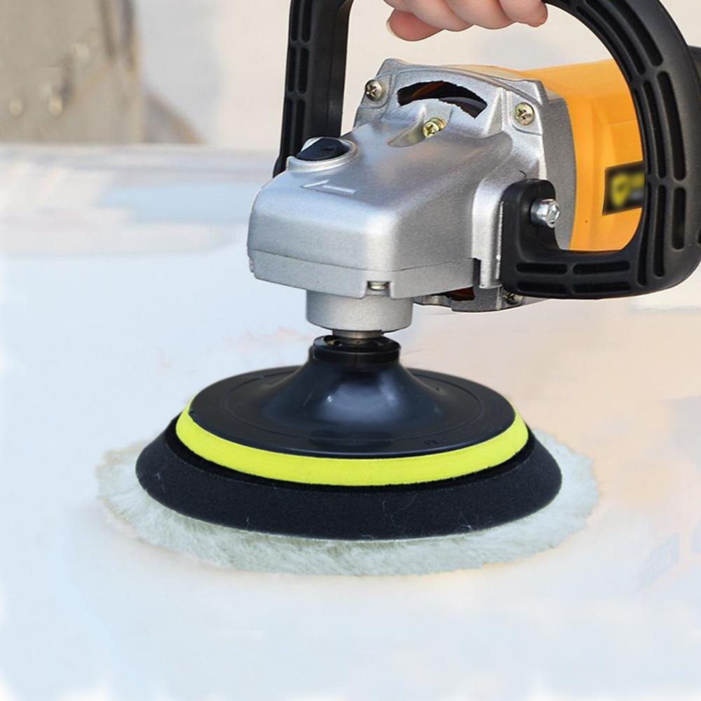 """2pcs Car Detail Cleaning Waxing Buffing Polisher 6/""""//7/"""" Car Woolen Polishing Pad"""