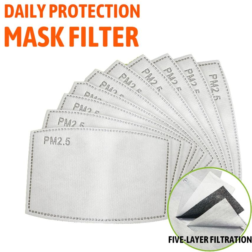 5 개 레이어 PM2.5 활성탄 필터 삽입 보호 필터 미디어를 삽입 매트 성인 입 방지 먼지 마스크 LJJA3939 마스크