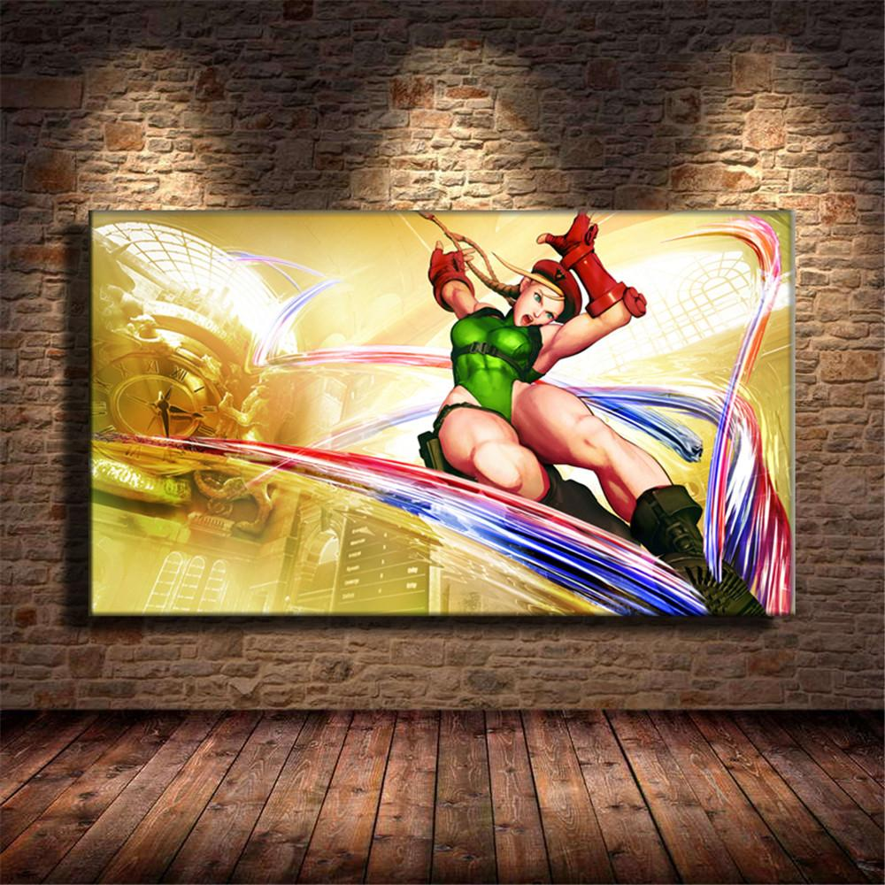 Framed Street Fighter Ryu Canvas Print Wall Art Home Decor 5 Piece