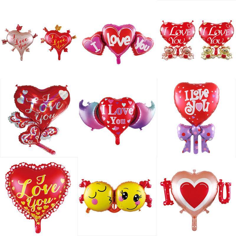 Foil Balloons dos Namorados decoração decoração de casamento dia eu te amo balão do coração partido Balões dos desenhos animados Balão BH2951 TQQ em forma de coração