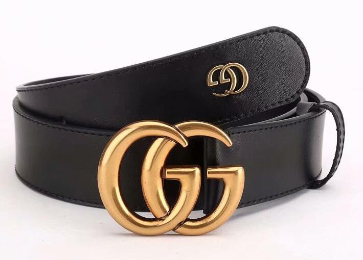 2213 Cinturón de mujer de alta calidad de cuero genuino Negro y negro de cuero de vaca de color de cinta para la correa para hombre 105-125CM