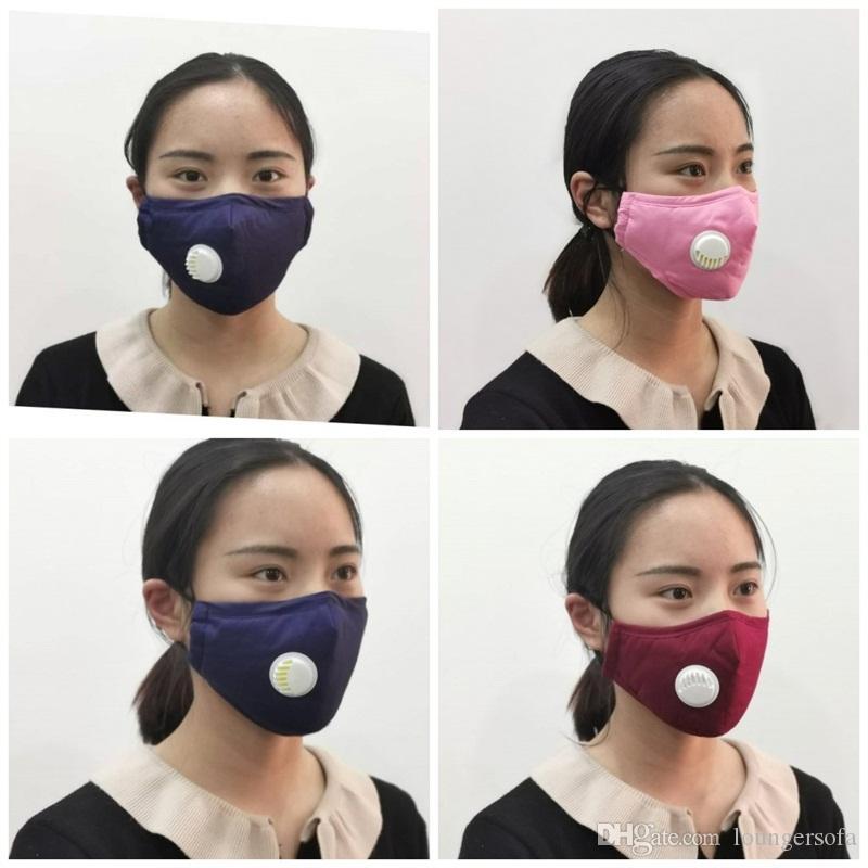 Insérable plaque de filtre Masque Mascherine masque respiratoire Valve Anti PM2,5 Visage Masques bouche chaud Gardez l'extérieur Sport 7 2SM UU