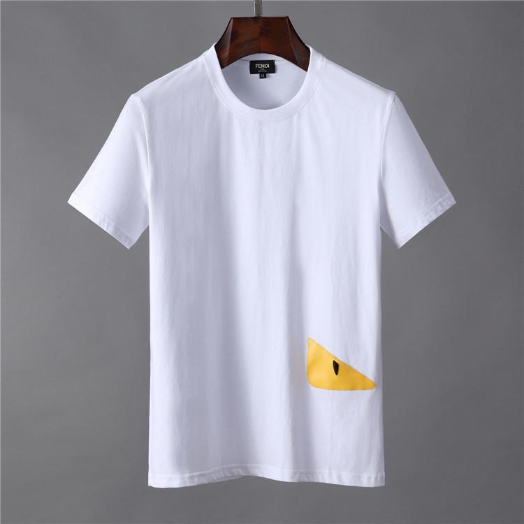 High quality fashion designer short T-shirt European men's round neck T-shirt