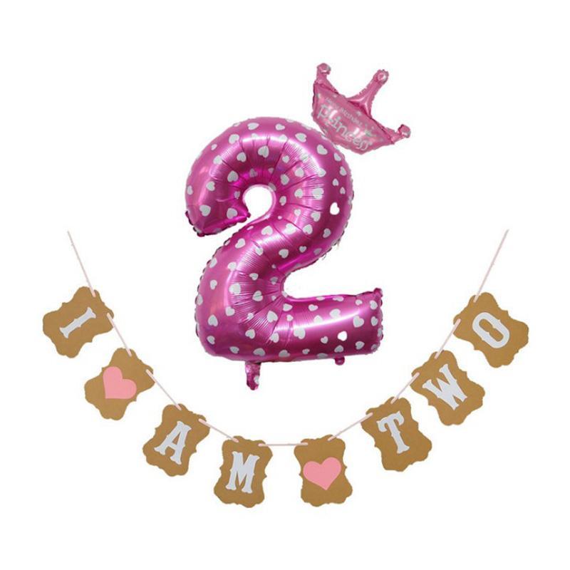 Acheter Creative Je Suis Deux Bannière En Papier Kraft 2 Ans D Anniversaire Garçon Fille 2 Ballons Décorations De Fête De 6 33 Du Totwo10
