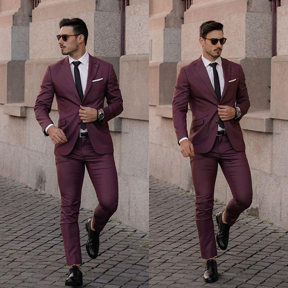 Hot Selling Burgundy Mens Suits 2020 Wedding Tuxedos Plus Size Custom Made Groom Groomsmen Designer Suit Men Formal Wear Tuxedos Suits Tuxedos Wedding From Dresstop 85 93 Dhgate Com