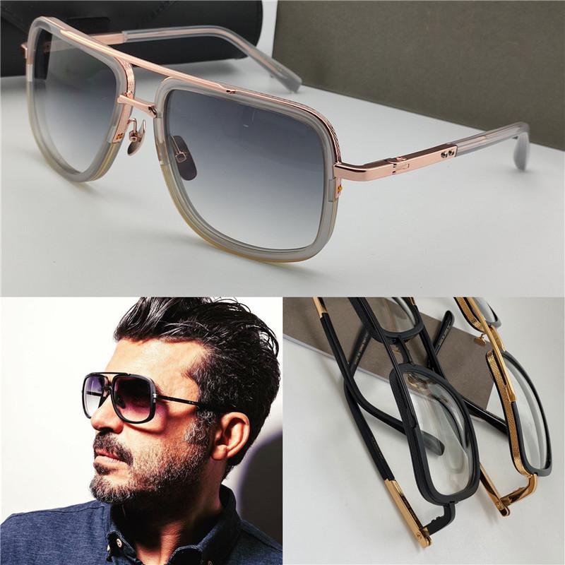 I nuovi occhiali da sole popolari ONE 2030 capi firmati d'epoca in metallo stile di moda cornice quadrata protezione esterna ai raggi UV 400 occhiali con lenti caso