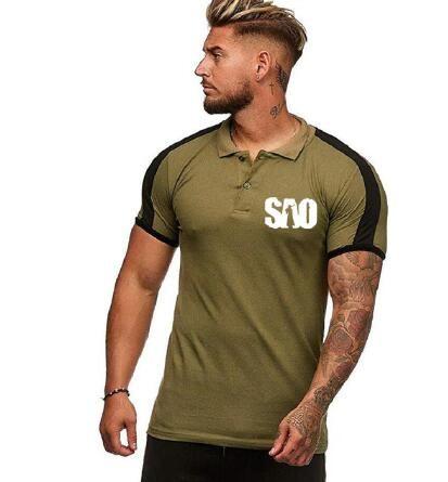Anime Sword Art Online SAO polo shirt T-shirt Short Sleeved Summer color Tee Top