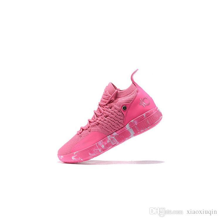 Satılık ucuz kd 11 basketbol ayakkabı kds Teyze Inci Pembe Kırmızı Üçlü Siyah Paskalya Sarı kd11 kevin durant ile xi sneakers çizmeler