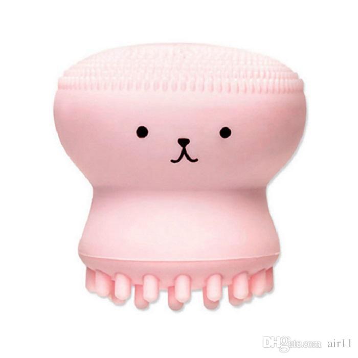 La nueva historieta linda Limpiadora Facial Exfoliante linda del gel de silicona masaje profundo limpieza de la cara del cepillo limpiador
