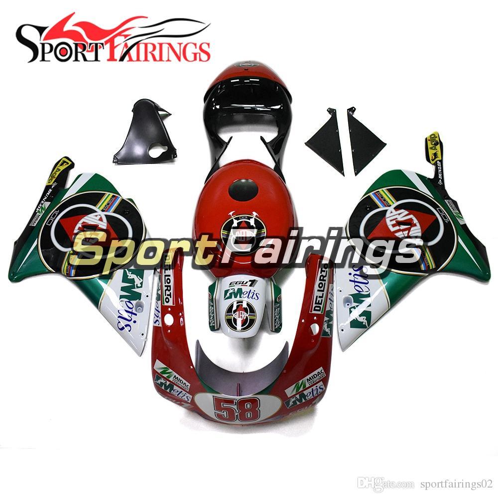 Carenados completos para Aprilia RS250 1998 - 2002 98 99 01 02 Carenados de plástico ABS Carenado de la motocicleta Carrocería Cubierta Blanco Rojo Verde Marcos