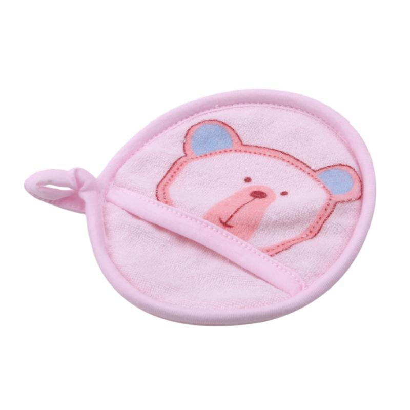 Enfants Cartoon Brosses de toilette ours coton nourrisson Rub Gants éponge bébé serviette éponge Accessoires laver corps Brosse