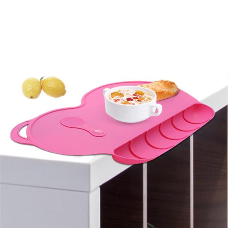 Bébé Silicon Plate Sucker Slip résistant bébé silicone napperon Snack imperméable Mat alimentaire Pocket Kid Dinner Plate Set Vaisselle