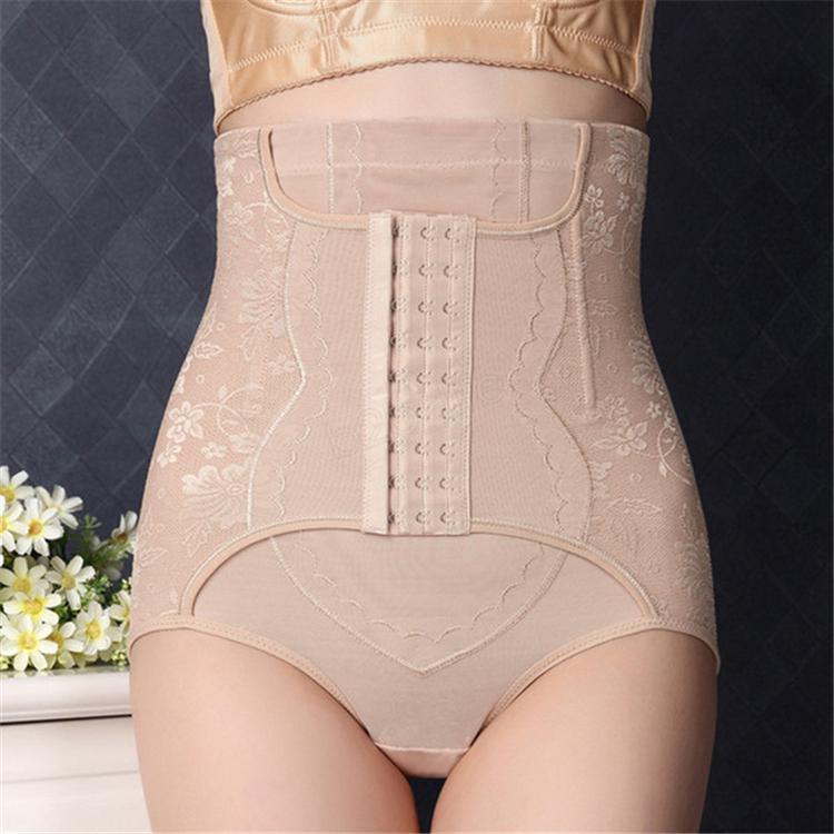 허리 트레이너 제어 팬티 여성 몸 셰이퍼 신축성이 엉덩이 리프터 높은 허리 슬리밍 3 행 후크 속옷 친밀 EFJ705