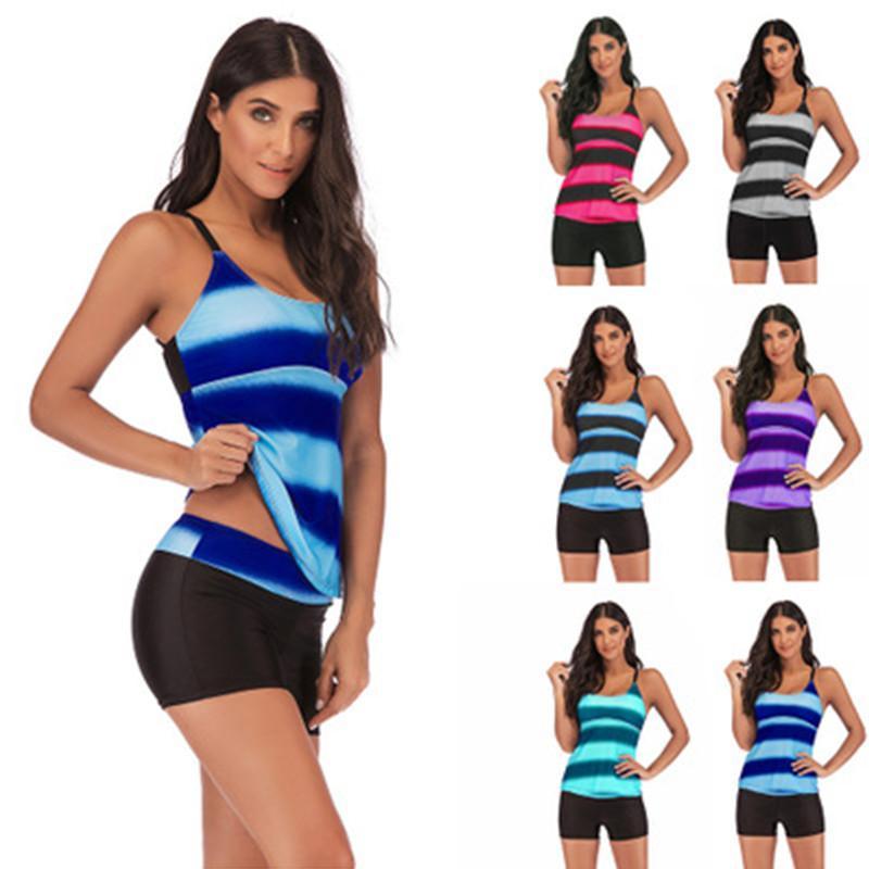 المرأة ملابس السباحة عارية الذراعين ضمادة بيكيني منتصف الخصر موضة ملابس السباحة بالاضافة الى حجم ثوب السباحة النسائية ملابس بالجملة حجم S-5XL