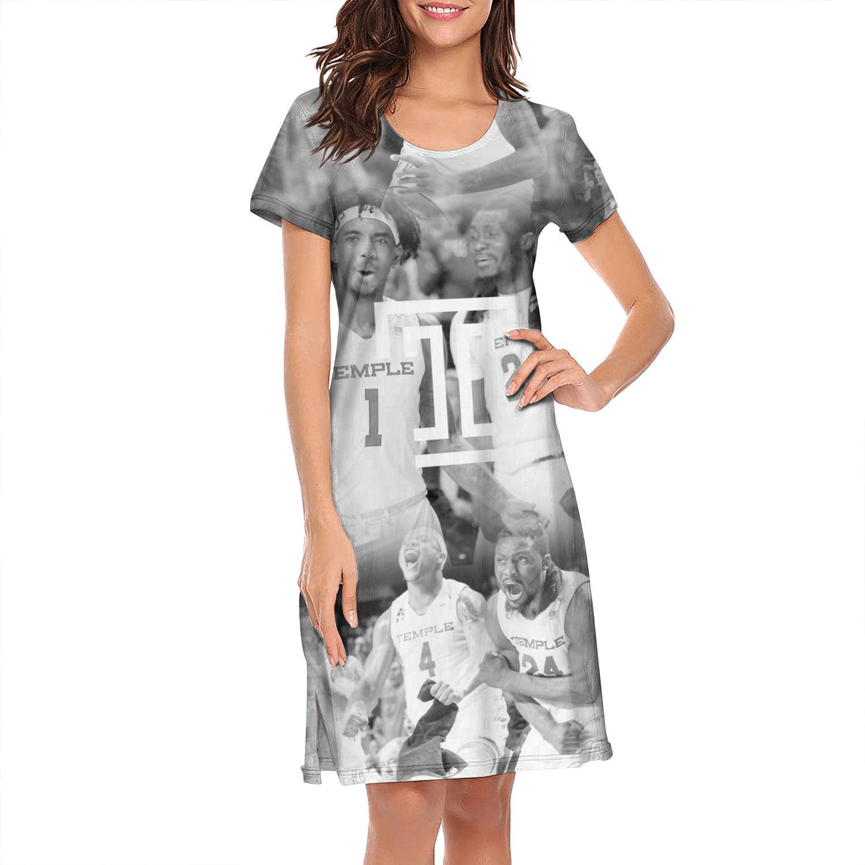 Женский дизайн печать храм совы футбол черный игрок белый плюс размер рубашка платье дизайнер друзья хип-хоп loungewear мода для