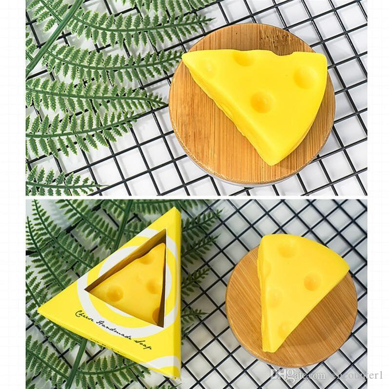 Cheese Cleansing Soap Moisturizing Anti-Itch Anti-Mite Handmade Soap Bathroom Natural Soaps Skin Whitening Bath Fruit Essential Oil Soap