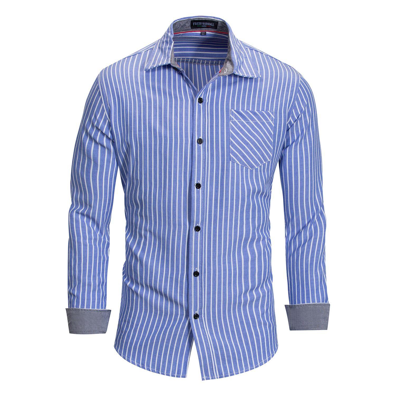 Mode-Designer-T-Shirts für Herren-Sweatshirts Frühling Gestreifte Herren T-Shirt Langarm Casual Men Tops Kleidung M-3XL Großhandel