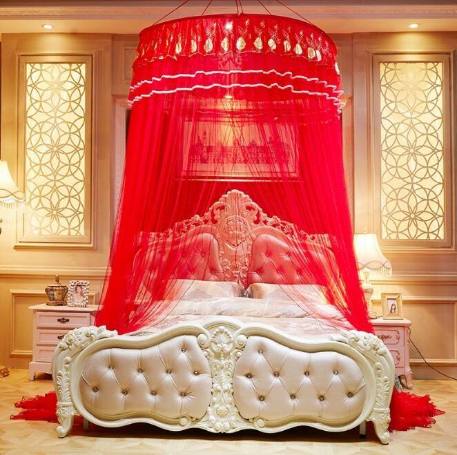 Circular mosquiteiro teto engrossado e densified diâmetro cerca de 1m com ventosa peça central do casamento Muito romântico WQ47