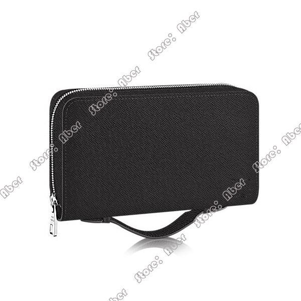 Aber Zippy XL Wallet runden Reißverschluss Geldbörse Beliebte Customization Frauen Mappen Fall Schwarze Handtasche Frau Echtes Leder-Pass-Halter-Handtasche