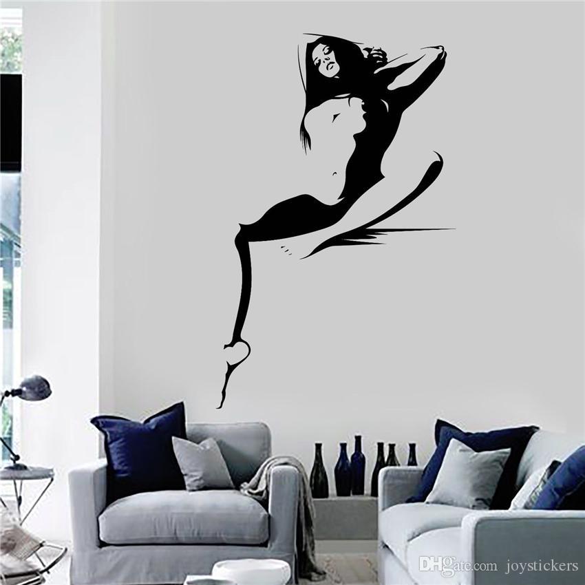 Vinyl Wandtattoo Hot Sexy Frau Mädchen Erwachsene Dekor Aufkleber Art Decor Home Decor Wandaufkleber