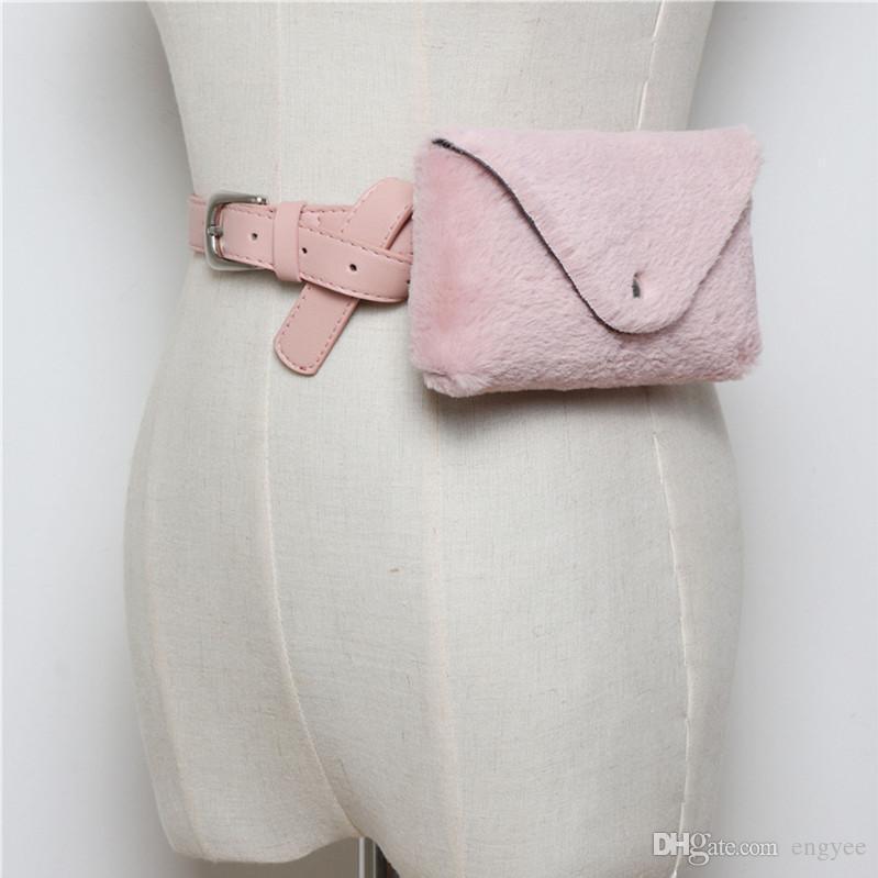 Sac en peluche taille Femmes Fanny Sac à ceinture en cuir Voyage Mode Hip Sacs Femme Sacs de taille Pochette Ceintures Sac Purse