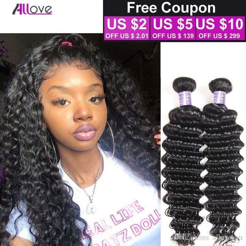 Top Quality Brazilian Deep Wave 100% Human Hair Weave 3 Bundles Lot Soft Human Virgin Hair Deep Wave Unprocessed Brazilian Peruvian Hair