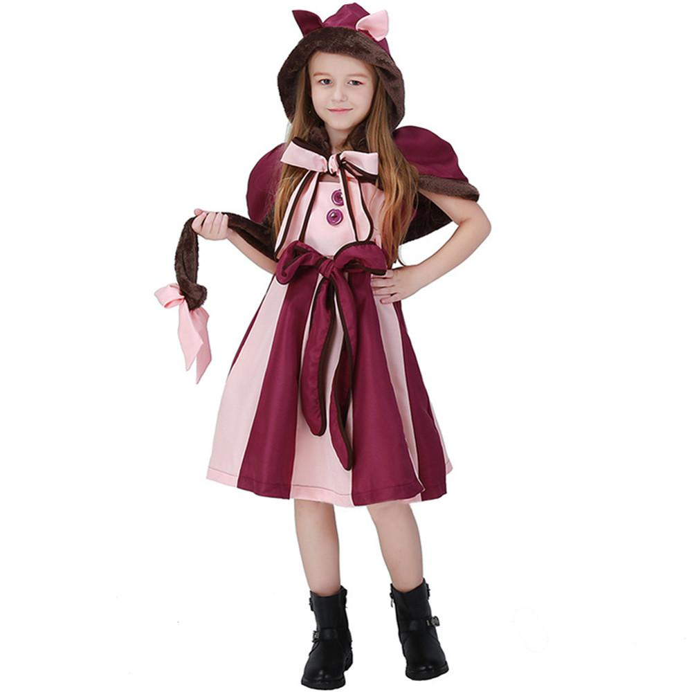 Childrens Alice In Wonderland Girls Fancy Dress Up Party Halloween Costume New