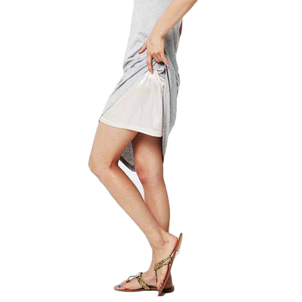 2018 여성 절반 전표 언더 탄성 허리 페티코트 안전 스커트 섹시한 란제리 검은 색 누드 새로운