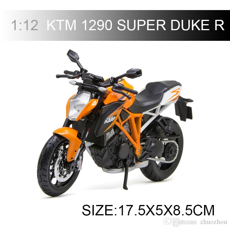1:12 scale KTM 1290 SUPER DUKE R motorcycle model Motorcycle Diecast Metal Bike Miniature Race Toy For Gift Collection