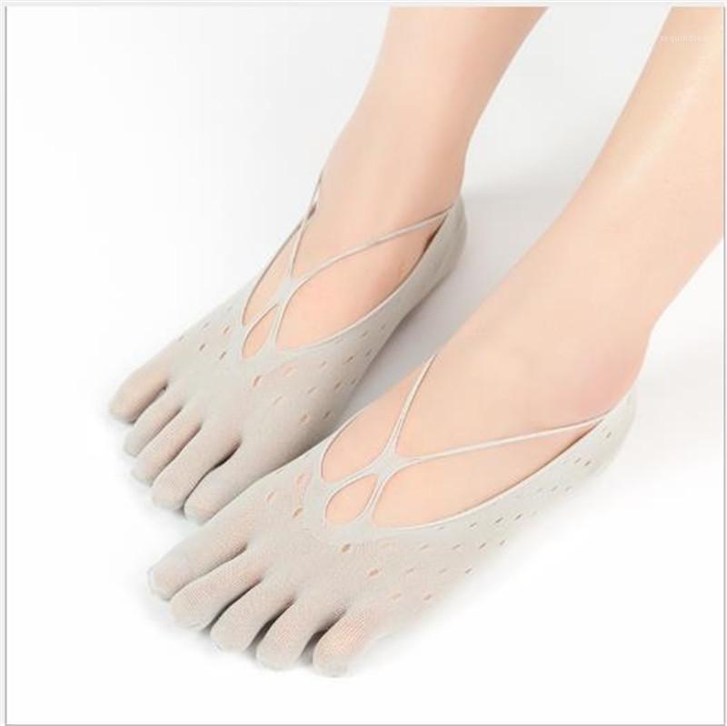 Caviglia traspirante solido della biancheria intima di colore delle donne Calzino Pantofole signore scava fuori See Through estate delle donne del progettista Socks