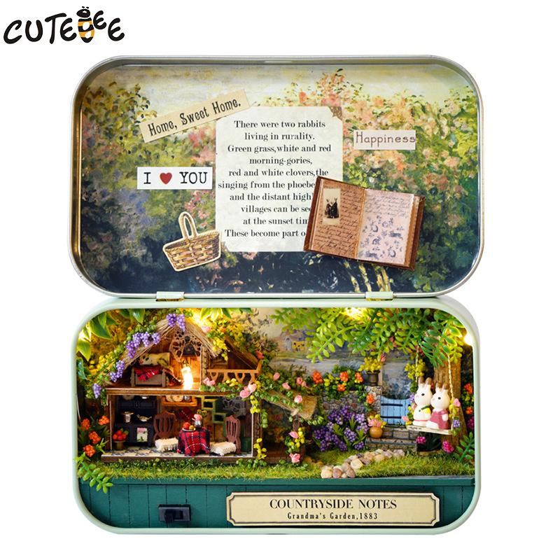 Handmade Furniture Diy Miniature Doll House 3d Wooden Dollhouse Miniatures Toys For Christmas And Birthday Gift V4-v6 Q190611