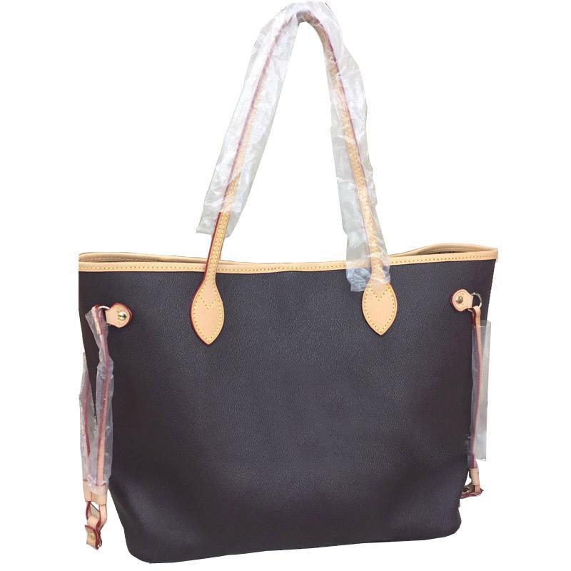 2pcs / set hohe qulity klassische Designer-Frauen Handtaschen Blumendamen mit der Brieftasche Composite toten PU-Leder Kupplung Schulterbeutel weibliche Geldbeutel