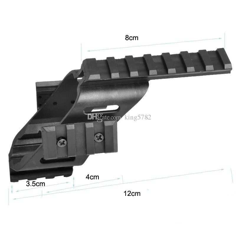 "Universal Tactical Pistol Scope Sight Laser Light Mount With Quad 7/8"" Weaver & Picatinny Rail G17 5.56"