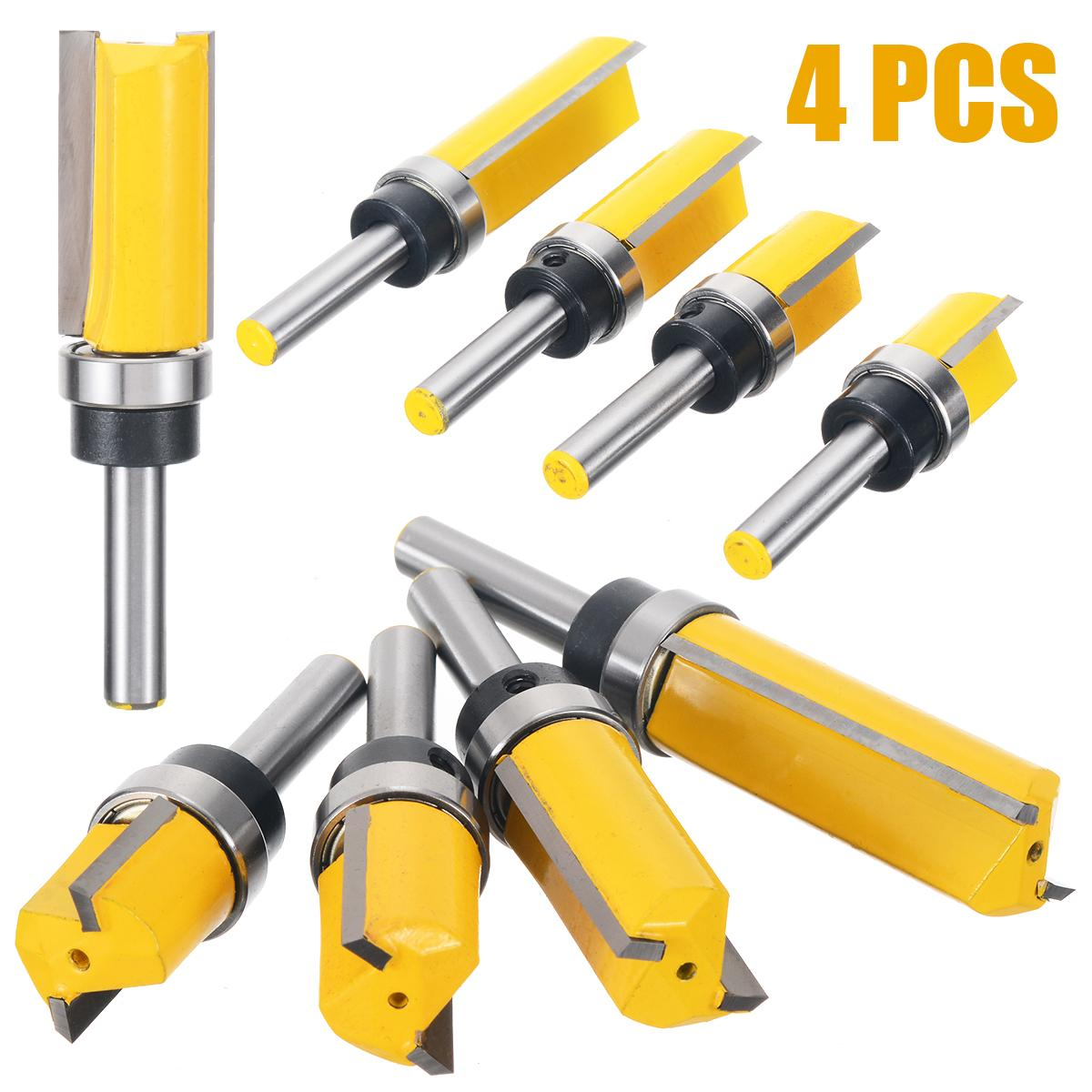Cutting Length 20mm,25mm,63mm Flute Trimming Milling Cutter MMDSG 3PCS Flush Trim Top and Bottom Bearing Router Bits Size : 12 mm Shank Tungsten Carbide Woodworking Tools