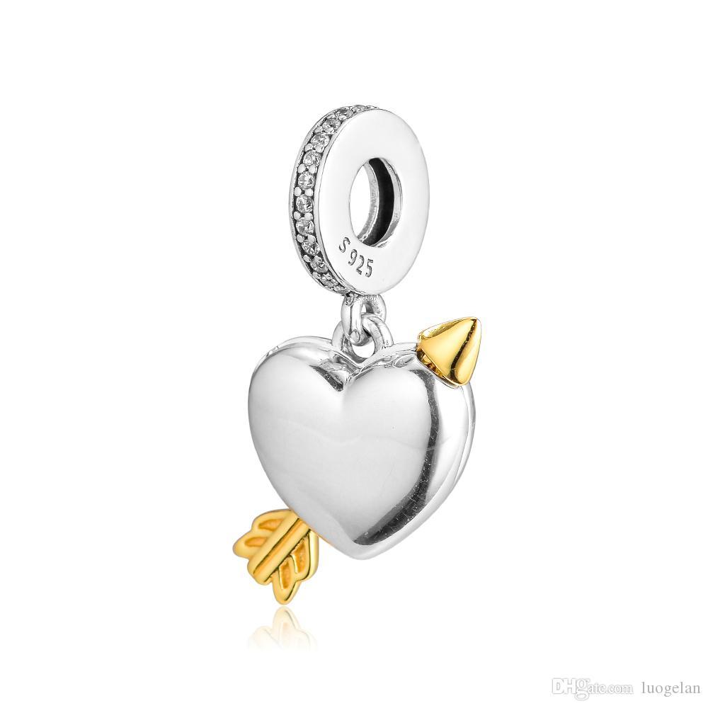 2019 Spring 925 Sterling Silver Jewelry Limited Edition Любовь Стрелка Charm Оригинальные бусы Подходит Pandora Браслеты ожерелье для женщин DIY Making