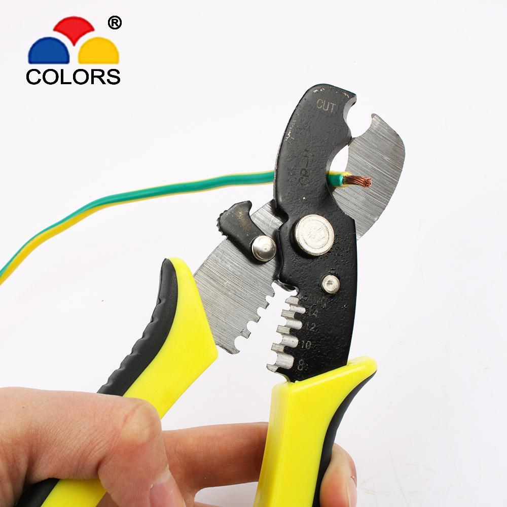 Fasen CR-V Elektriker Abisolierzange Multikabeldrahtzangen Stripping Kabelschneider-Handwerkzeug