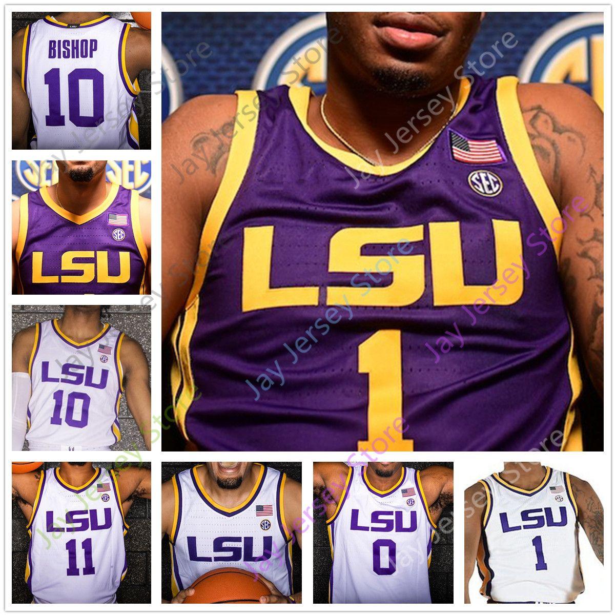2021 Custom LSU Basketball Jersey College Skylar Mays Javonte ...