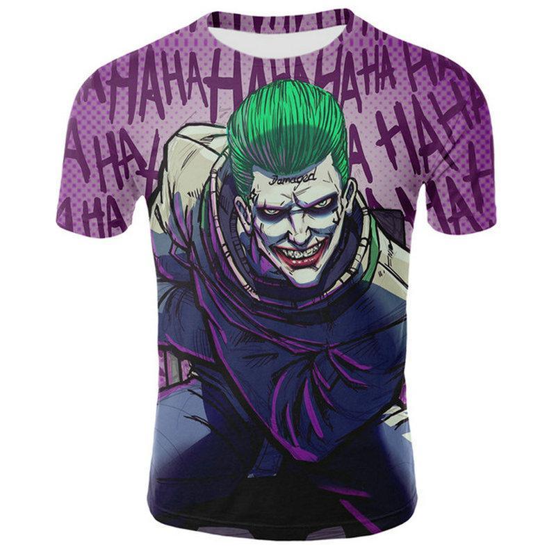 3D do palhaço T-shirt Homens Anime Camiseta Hip hop 3D camisetas Streetwear Mens Clothes diabo 3d camisa estampada T gráfico camisetas Livre o navio