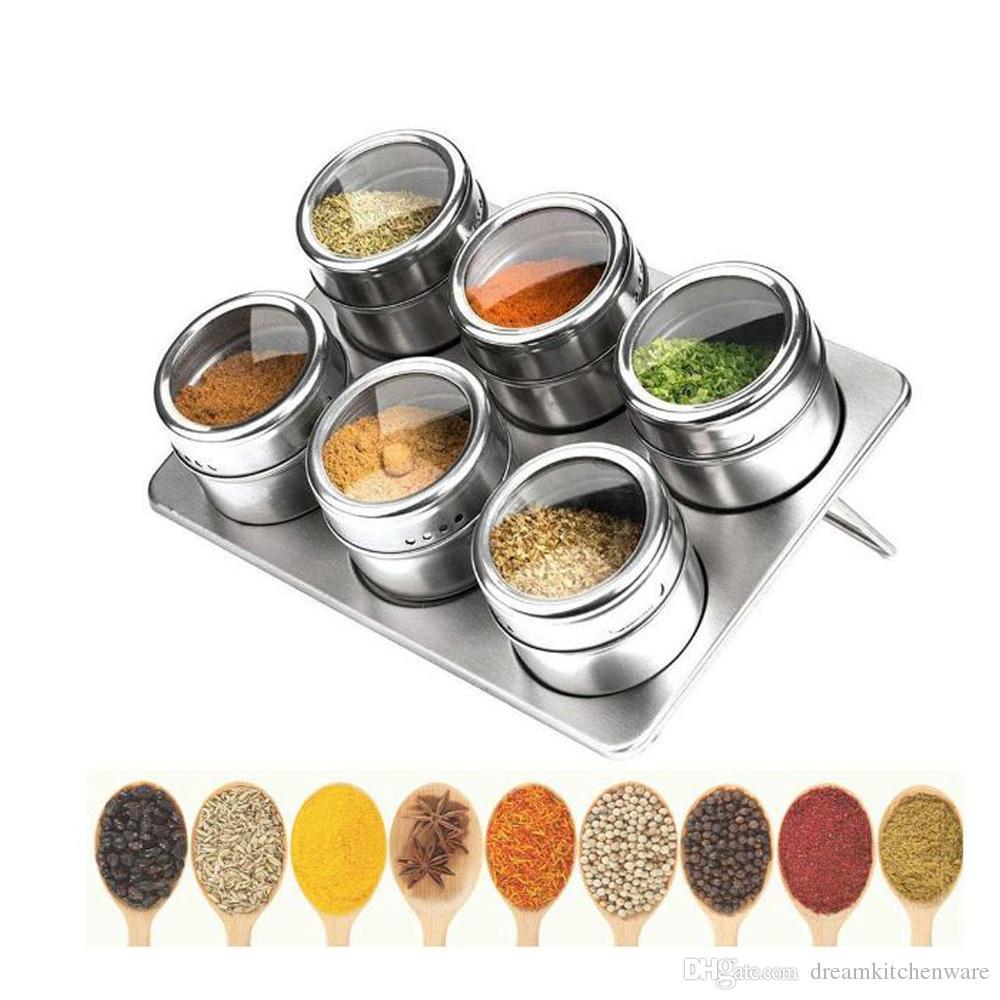 12 X Pot En Verre Set Condiments cuisine outil s s couvercle de sel et poivre shakers nouveau