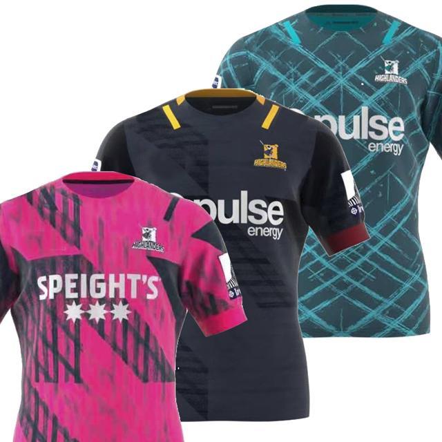 2020 하이랜드 클럽 슈퍼 하이랜더 럭비 저지 리그 뉴질랜드 슈퍼 트레이닝 복 전문 럭비 셔츠 (19) (20) S-3XL
