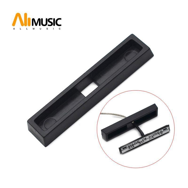 Keman Pikap Düz Piezo 43.5x5.5mm Black için 20pcs Plastik Kapak