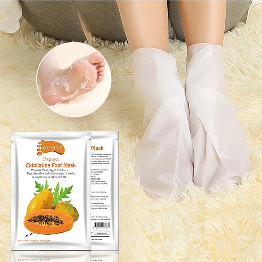 Peeling Ayak Maskesi Çorap Pedikür Bebek Ayak Peel Için Ayaklar Maske Cilt Bakımı Kozmetik Soyma Ayak Sağlık Araçları RRA1502