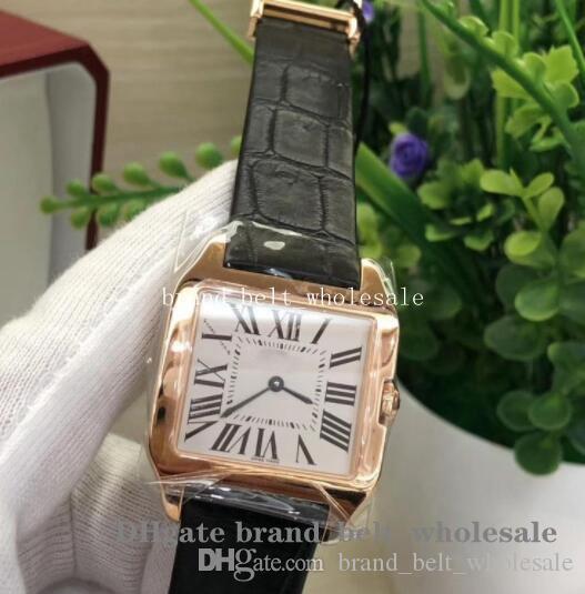Uomo Classic Series da polso quadrante bianco WGSA0011 WGSA0021 Band cinghia di cuoio Oro rosa 18 carati VK Mens orologi orologi al quarzo