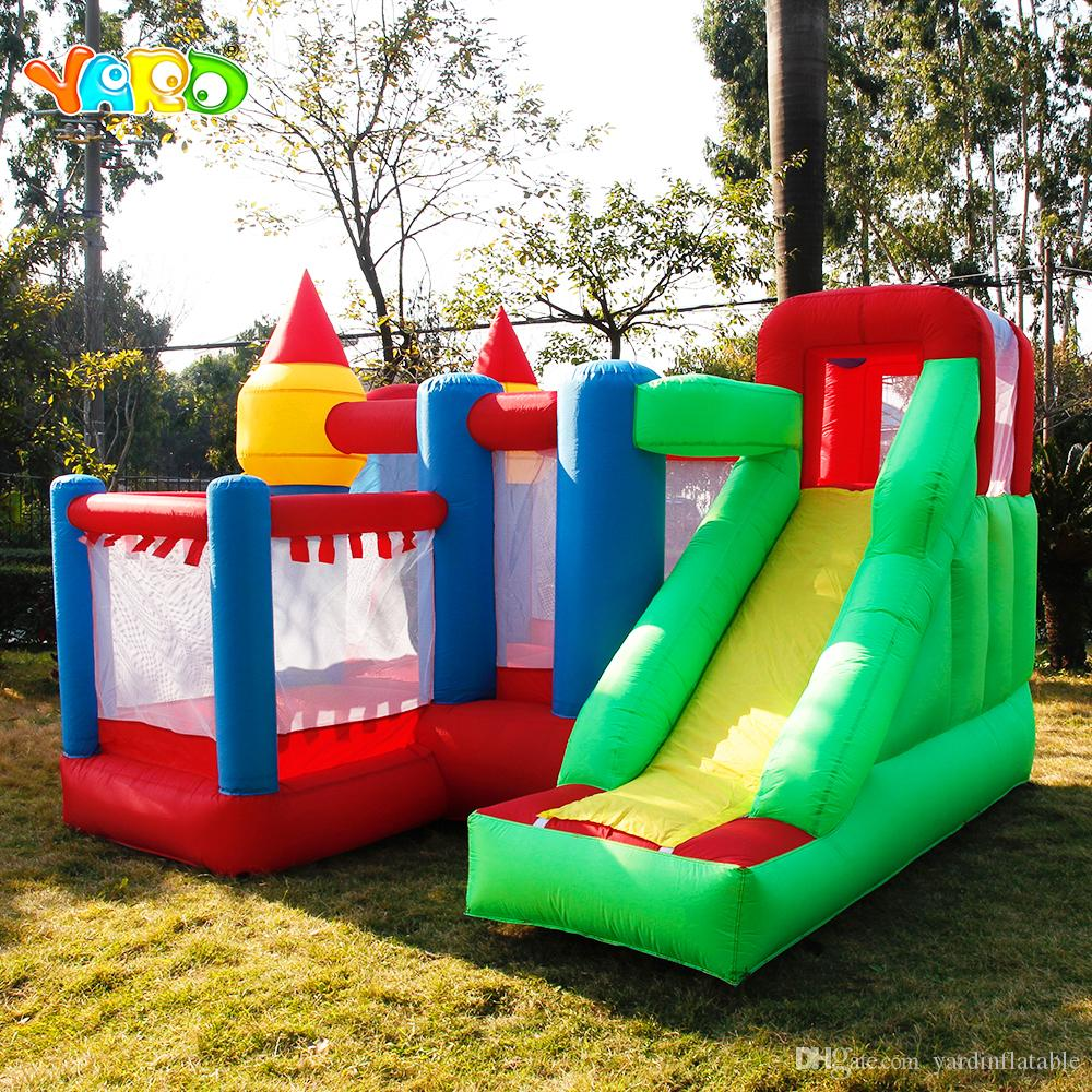 YARD Free Shipping 6 in 1 All-round Inflatable Bouncer Giant Bouncy House Castle For Kids Party Games
