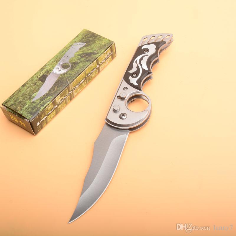 coltelli AUTO piegante tattica 440C raso singolo filo della lama di alluminio maniglia EDC tasca con la scatola al minuto Pacchetto