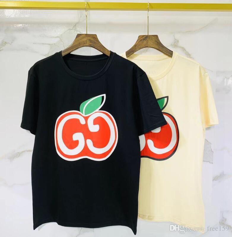 camisa de los hombres letras 27SS verano de las mujeres de manga corta camiseta de impresión superior de la manera ropa de lujo simple algodón señoras del diseño
