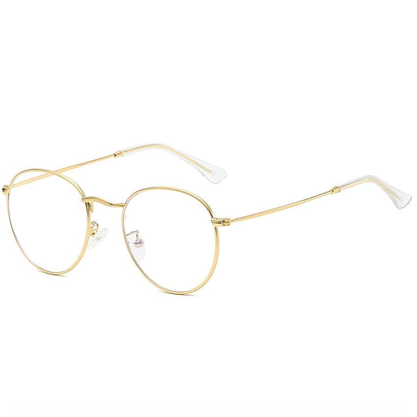 예술적인 스타일의 근시의 안티 오키드 일반 근시 금속 프레임 남성과 여성의 안경 프레임 타원형 안경 3447을 볼 속보