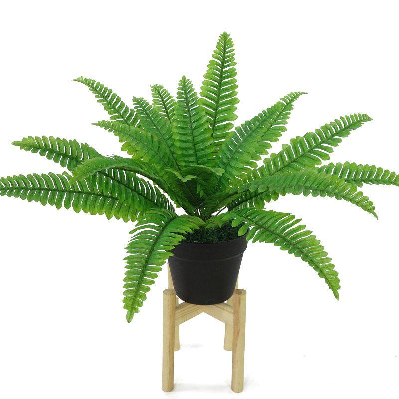 18 planta falsa cabeza artificial verde Hojas de simulación de hierro Pérsico hojas de la hierba flor de la sala principal decoración de jardín